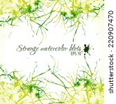 abstract yellow and green... | Shutterstock .eps vector #220907470