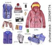 men fashion illustration... | Shutterstock . vector #220909774