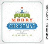 christmas tree typography from... | Shutterstock .eps vector #220910308