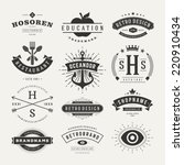 retro vintage insignias or... | Shutterstock .eps vector #220910434