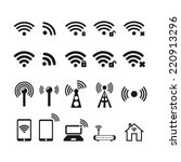 wireless  icon. basic icons. | Shutterstock .eps vector #220913296