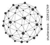 3d molecule structure... | Shutterstock .eps vector #220913749
