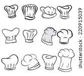 hand drawn chef hat vector | Shutterstock .eps vector #220915039