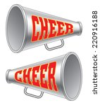 megaphone cheer is an... | Shutterstock . vector #220916188