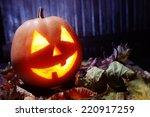 jack o lanterns  halloween... | Shutterstock . vector #220917259