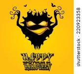 vector happy halloween card...   Shutterstock .eps vector #220923358