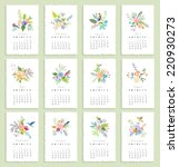 Calendar 2015 With Flowers And...