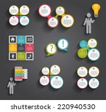 collection of infographic...   Shutterstock .eps vector #220940530
