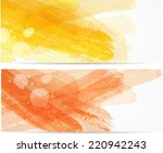 banner two templates with... | Shutterstock .eps vector #220942243