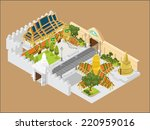 thailand grand palace vector | Shutterstock .eps vector #220959016