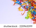 colorful ribbon corner border | Shutterstock . vector #220963399