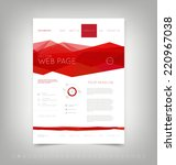 vector website design template... | Shutterstock .eps vector #220967038