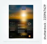 vector blurry bokeh website... | Shutterstock .eps vector #220967629