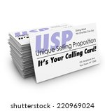 unique selling proposition usp... | Shutterstock . vector #220969024