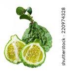 bergamot and kaffir lime leaves ... | Shutterstock . vector #220974328