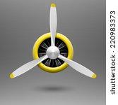 Vintage Aircraft Propeller Wit...
