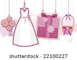 wedding strings   vector | Shutterstock .eps vector #22100227