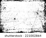 vector vintage grunge black and ... | Shutterstock .eps vector #221002864