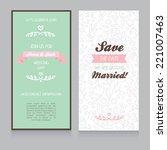 template for wedding invitation ... | Shutterstock .eps vector #221007463