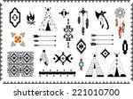 aztec vector elements set | Shutterstock .eps vector #221010700