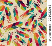 seamless pattern with feathers... | Shutterstock .eps vector #221023063