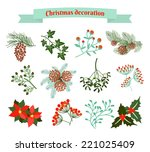 christmas decoration .  set of...   Shutterstock .eps vector #221025409