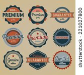 collection of nine premium and... | Shutterstock .eps vector #221027800