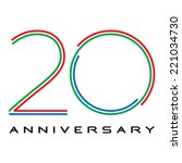 20 years anniversary vector | Shutterstock .eps vector #221034730