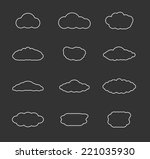 flat design clouds collection....
