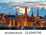 temple of the emerald buddha at ... | Shutterstock . vector #221040730