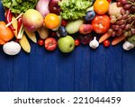 fresh organic fruits and... | Shutterstock . vector #221044459