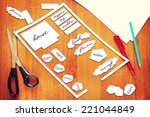 layout placement of plants in... | Shutterstock . vector #221044849