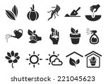 planting icons   illustration | Shutterstock .eps vector #221045623