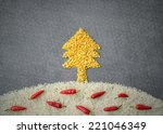 christmas tree made from yellow ... | Shutterstock . vector #221046349