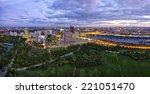 donau city vienna at the danube ... | Shutterstock . vector #221051470