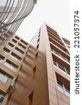stylish new building. snapshot... | Shutterstock . vector #221057374