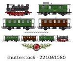 a side illustration of vintage... | Shutterstock . vector #221061580