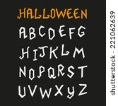 hand drawn halloween alphabet | Shutterstock .eps vector #221062639