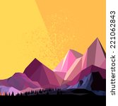 Low Poly Vector Mountain...