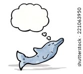 dolphin with thought bubble...