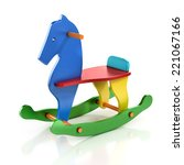 Colorful Rocking Horse Chair 3...
