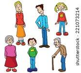 family set cartoon illustration   Shutterstock . vector #221073214