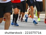 race with many atletic engaged... | Shutterstock . vector #221075716