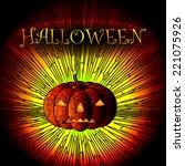 halloween background with... | Shutterstock .eps vector #221075926