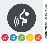voice recognition button.... | Shutterstock .eps vector #221076250