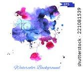 watercolor vector background in ... | Shutterstock .eps vector #221081539