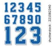 numbers set  vector illustration | Shutterstock .eps vector #221082340