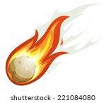 cartoon fireball and comet...