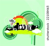 colorful urban illustration | Shutterstock .eps vector #22108465