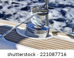 Winch On A Sailing Boat